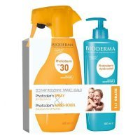 BIODERMA Photoderm Zestaw SPF 30 spray 400 ml + Emulsja po opalaniu 500 ml