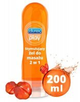 Durex Play  2 w 1 żel intymny do masażu z Guaraną, 200 ml