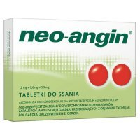NEO-ANGIN z cukrem 36tabl.do ssania