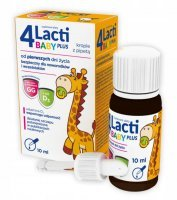 4 Lacti Baby Plus krople, 10 ml