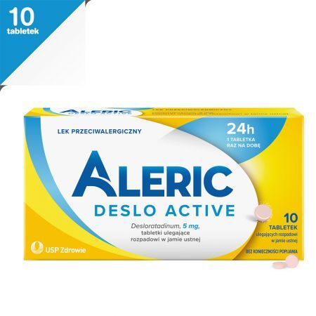 Aleric Deslo Active 5 mg, 10 tabletek
