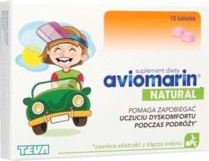 Aviomarin Natural, 10 tabletek