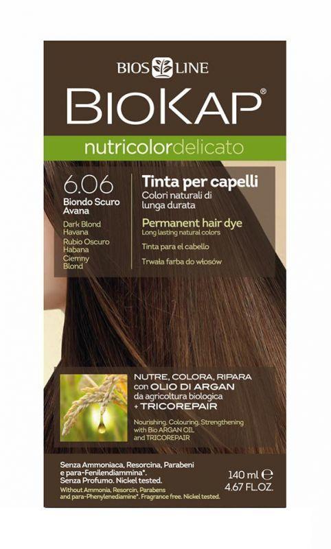 Biokap Nutricolor Delicato Farba Do Wlosow 6 06 Ciemny Blond 140 Ml