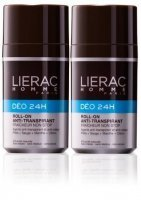 LIERAC Homme Deo 24H Antyperspirant roll-on, 2 x 50 ml
