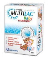Multilac Baby Synbiotyk krople, 3 x 5 ml