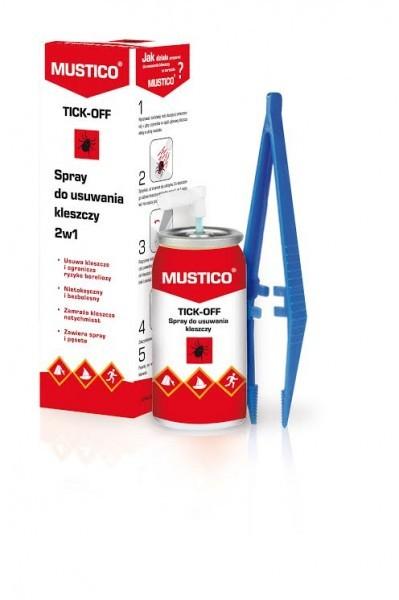 2898b58f28ec MUSTICO Tick-Off- spray do usuwania kleszczy z pęsetą dla dzieci i ...