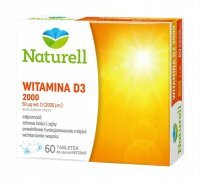 Naturell Witamina D3 2000 j.m., 60 tabletek do ssania