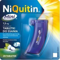 Niquitin Mini 1,5mg pomoc w rzuceniu palenia, 20 tabletek do ssania