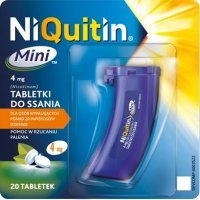 Niquitin Mini 4mg pomoc w rzuceniu palenia, 20 tabletek do ssania