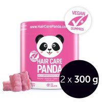 NOBLE HEALTH Hair Care Panda Witaminy w żelkach, 2 x 300 g