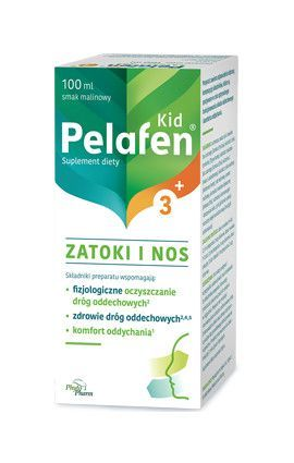 Pelafen Kid 3+ Zatoki i nos, 100 ml