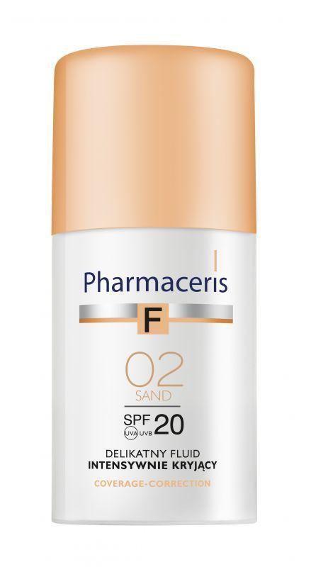 Pharmaceris F Fluid Intensywnie Kryjący 02 Sand Spf 20 30 Ml