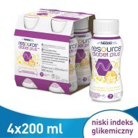 Resource Diabet Plus smak waniliowy, 4 x 200 ml