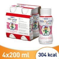Resource Junior smak truskawkowy, 4 x 200 ml