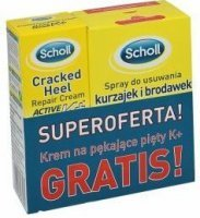 Scholl spray na kurzajki 80ml + krem do pięt