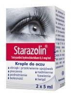 STARAZOLIN 0,05% krople do oczu 2x5ml