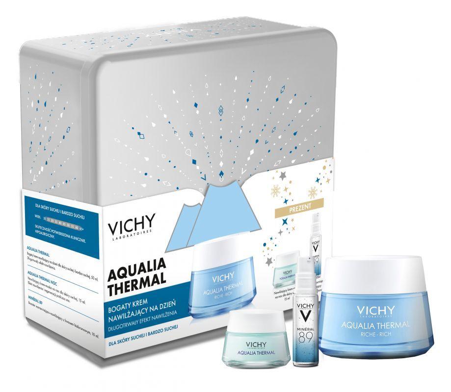Vichy Zestaw Aqualia krem bogata konsystencja 50 ml + mini..