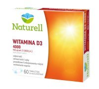 Witamina D3 4000 j.m., 60 tabletek do ssania /Naturell/