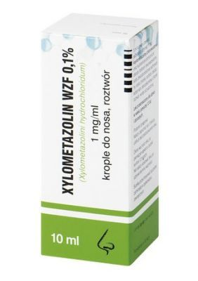 XYLOMETAZOLIN 0,1% krople do nosa 10ml